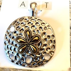 NEW Pitted Sand Dollar Necklace Pendant